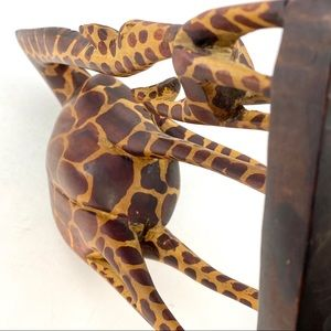 None Accents - African Giraffe Baby Wood Hand Carved Made Kenya